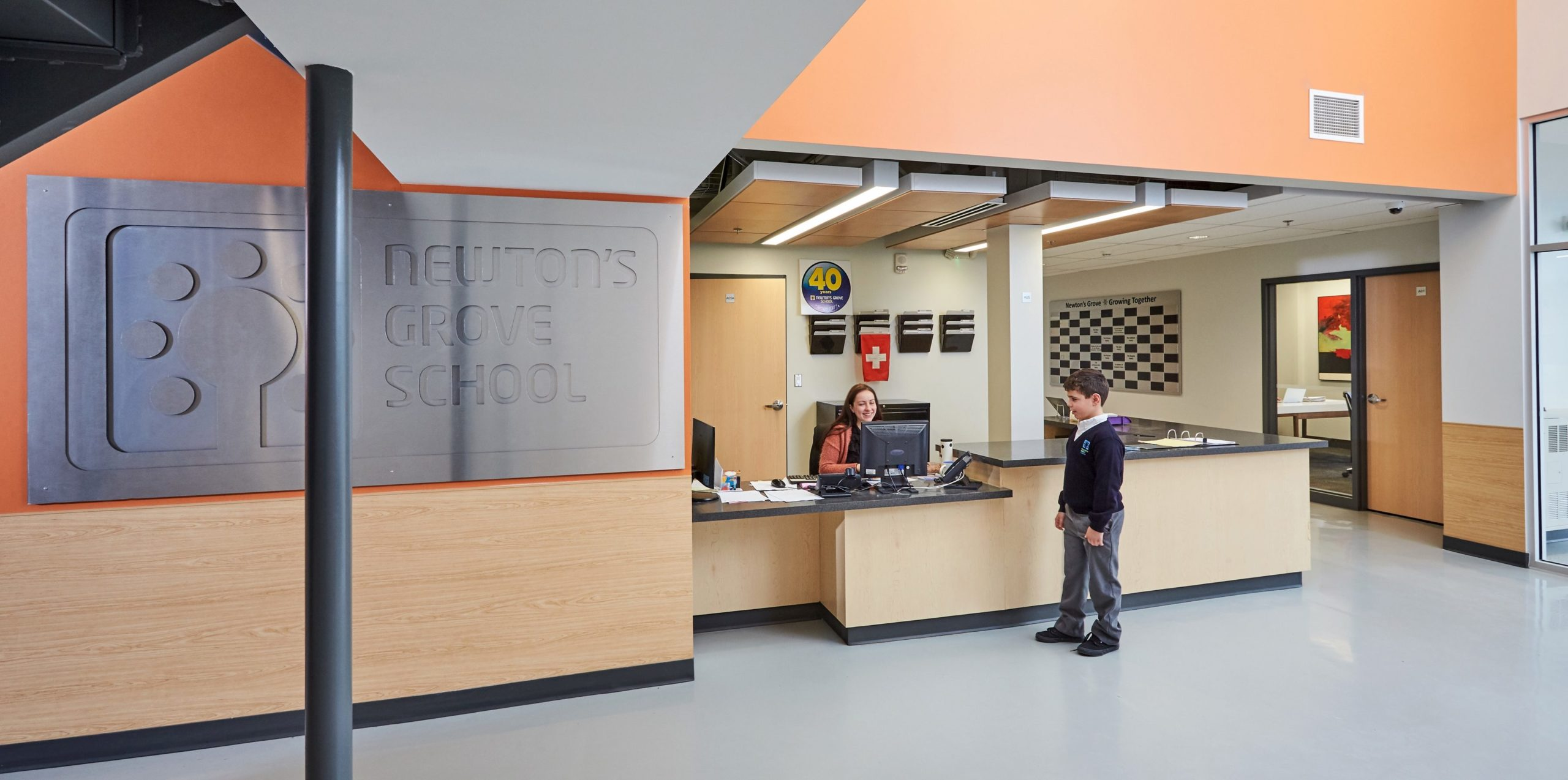 Newton's Grove School reception