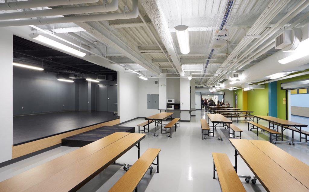 Newton's Grove School Lunch area
