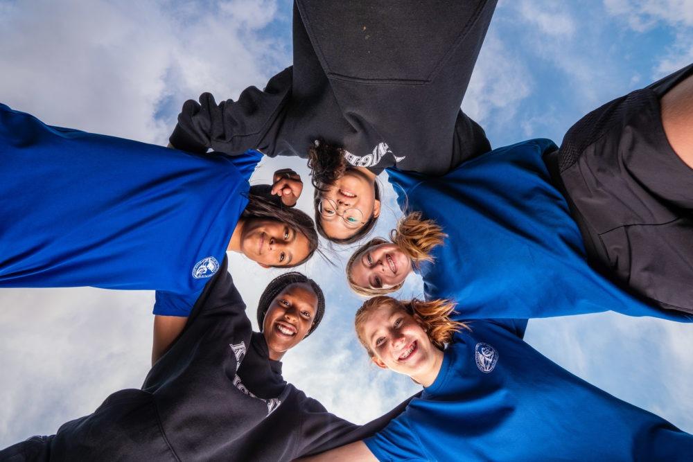 Newton's Grove School girls soccer team
