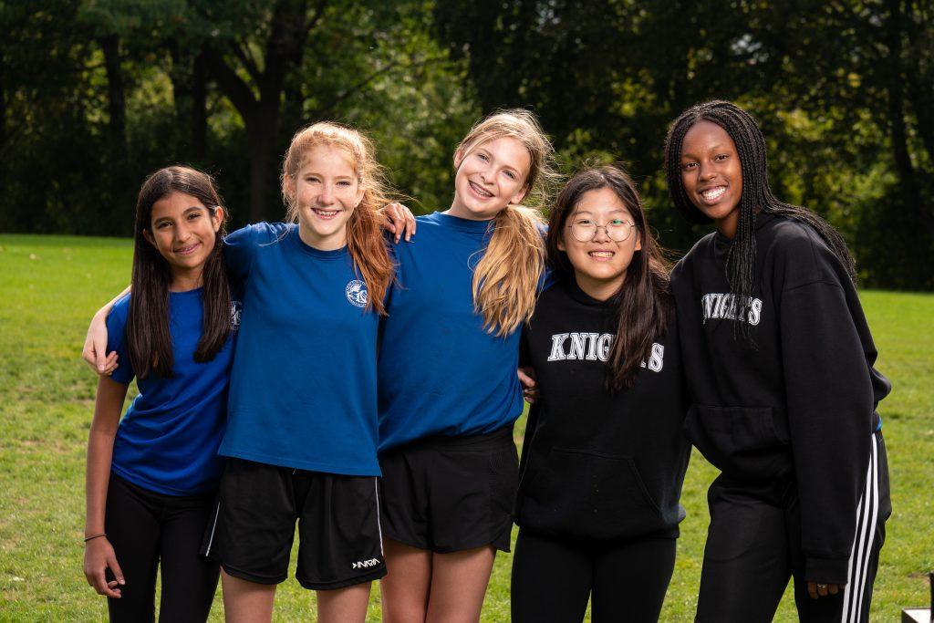 Newton's Grove School Group of students