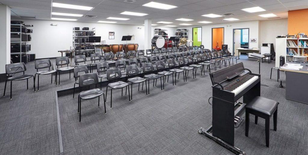 Newton's Grove School music classroom