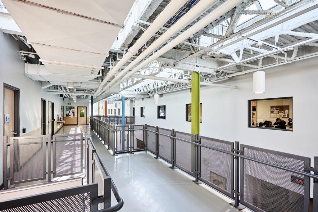 Newton's Grove School hallway