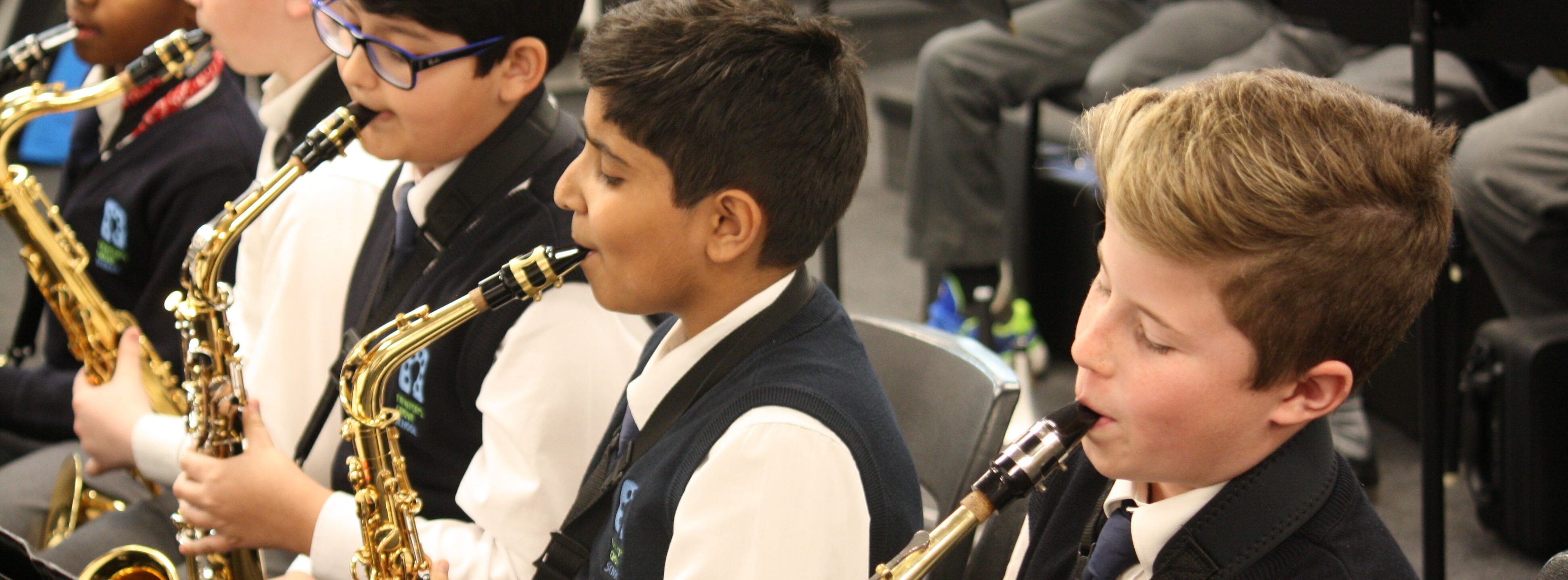 Newton's Grove School . Music Sax Group
