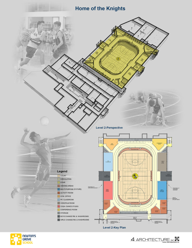Layout of gym 2nd floor