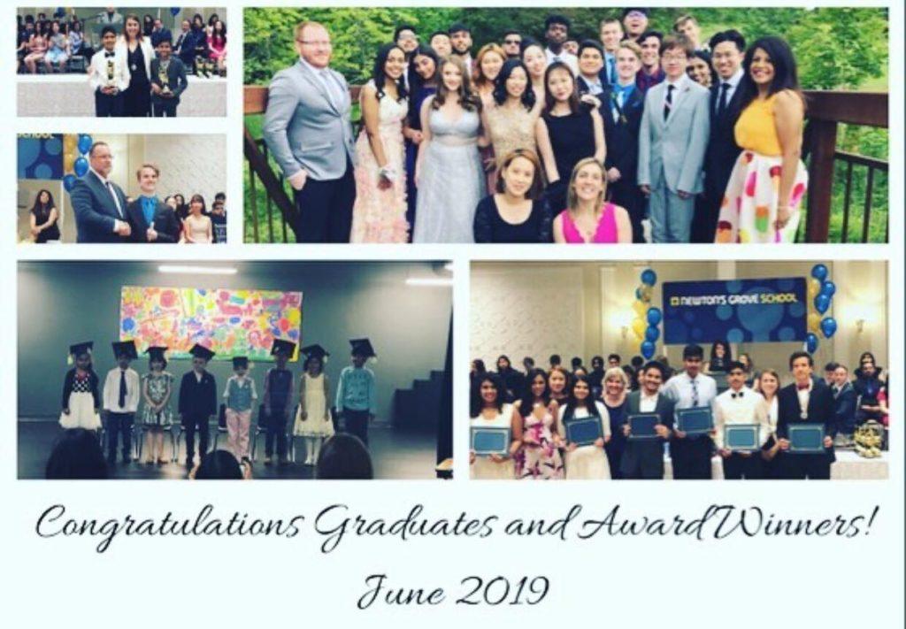 Newton's Grove School graduates