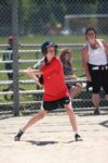 Newton's Grove School Girl playing baseball