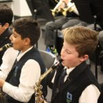 Newtons Grove school music class with students playing jazz